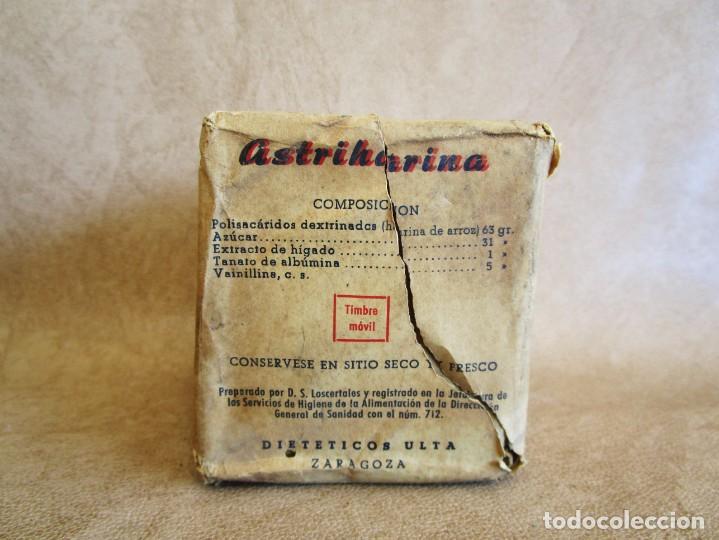 MEDICAMENTO AÑOS 60 ASTRIHARINA DIETETICOS ULTA ZARAGOZA (Antigüedades - Técnicas - Herramientas Profesionales - Medicina)