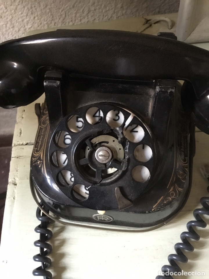 Teléfonos: Antiguo teléfono de baquelita - Foto 2 - 135236065