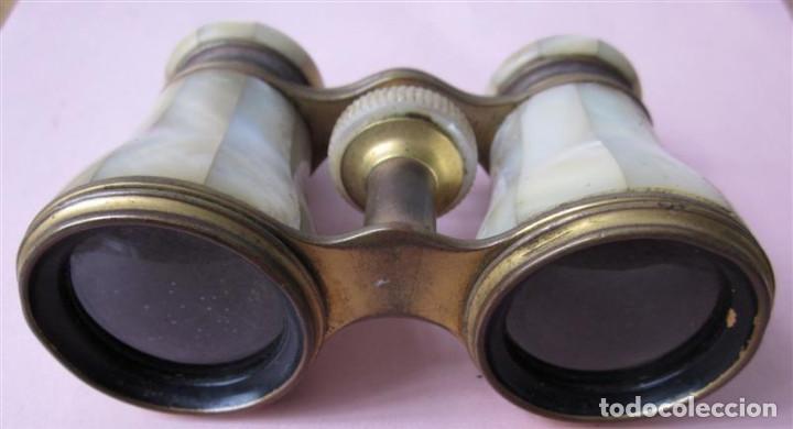 Antigüedades: PRISMATICO NACAR - son de nácar y metal latón - lemaire fabe París - Foto 3 - 135262982