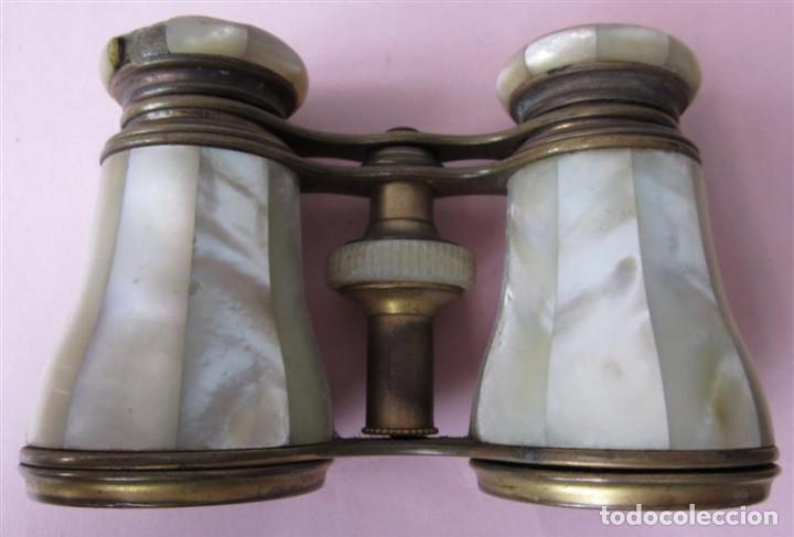 Antigüedades: PRISMATICO NACAR - son de nácar y metal latón - lemaire fabe París - Foto 4 - 135262982