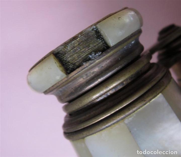 Antigüedades: PRISMATICO NACAR - son de nácar y metal latón - lemaire fabe París - Foto 6 - 135262982