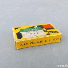 Antigüedades: HOJAS DE AFEITAR - MSA, JUAN VOLLMER - CAJITA COMPLETA CON 10 HOJAS. Lote 135372446