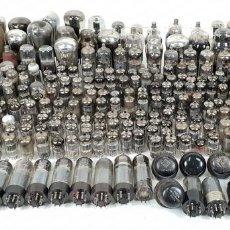Antigüedades: COLECCIÓN DE 227 VÁLVULAS ELECTRÓNICAS. VARIAS MARCAS, TAMAÑOS Y VALORES. SIGLO XX.. Lote 135422582