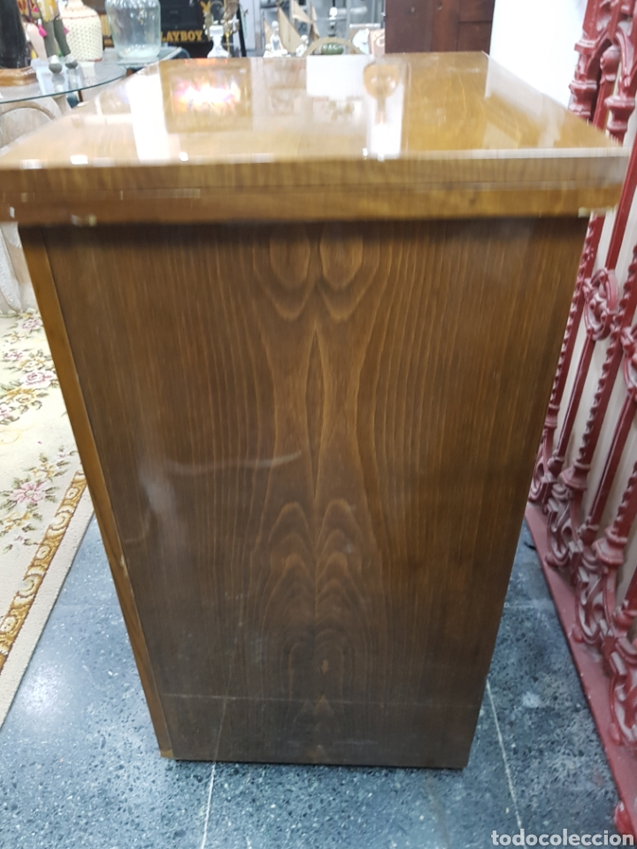 Antigüedades: Máquina de coser Singer en mueble plegable - Foto 12 - 135443887