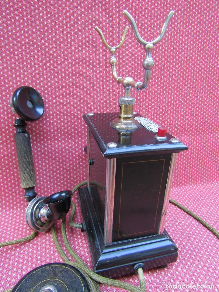 Teléfonos: ELEGANTE TELEFONO DE MESA, FABRICADO EN DINAMARCA A PRINCIPIOS DEL SIGLO XX. MUY BUENA CONSERVACIÓN. - Foto 3 - 135479282