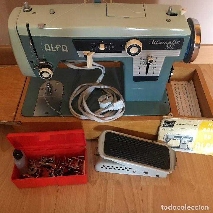 Antigüedades: Maquina de coser Alfa 109 (alfamatic) vintage - Foto 2 - 135485182