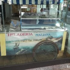 Antigüedades: CARRITO DE HELADO CON VITRINA EXPOSITORA. Lote 135501470