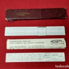Antigüedades: ANTIGUA REGLA DE CALCULO RAPHOPLEX 640. Lote 135509702