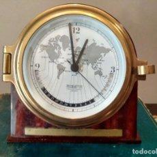 Antigüedades: WEMPE CRONOMETERWERKE HAMBURG MARINE CLOCK CON HORARIO MUNDIAL. Lote 135516766