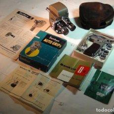 Antigüedades: CAMARA DE CINE O TOMAVISTAS SANKYO 8 - R + ACCESORIOS 8MM. Lote 135532646