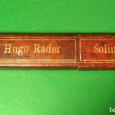 Antigüedades: CAJA VACIA ORIGINAL PARA NAVAJA DE AFEITAR O BARBERO UGO RADER 14. STRAIGHT RAZOR, BOX, RASOIO. Lote 135539434