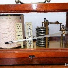 Antigüedades: BAROGRAFO ANEROIDE CON TERMOMETRO, JULES RICHARD. Lote 135547790