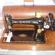 Antigüedades: MAQUINA DE COSER SINGER 66K, CON DISEÑO FILIGREE, FUNCIONA Y COSE, AÑO 1924. Lote 135554810