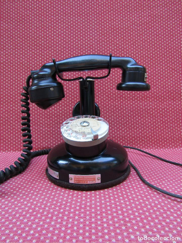 ANTIGUO TELEFONO FRANCES DE MESA AÑO: 1931, MODELO PTT 24. (CON DISCO) (Antigüedades - Técnicas - Teléfonos Antiguos)