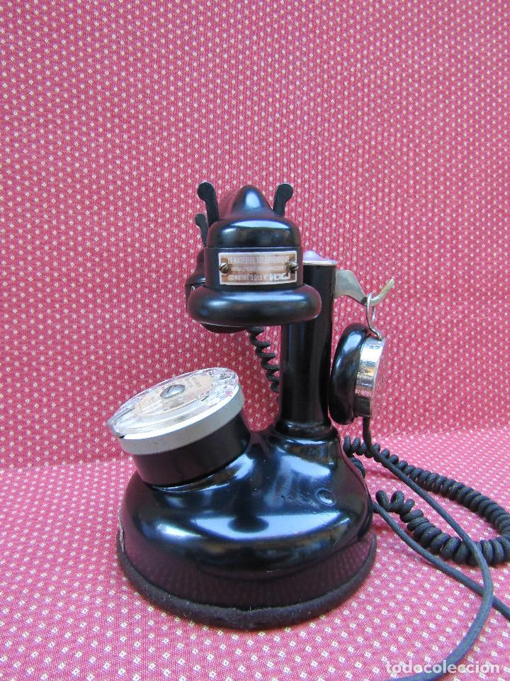 Teléfonos: ANTIGUO TELEFONO FRANCES DE MESA AÑO: 1931, MODELO PTT 24. (con Disco) - Foto 2 - 135557826