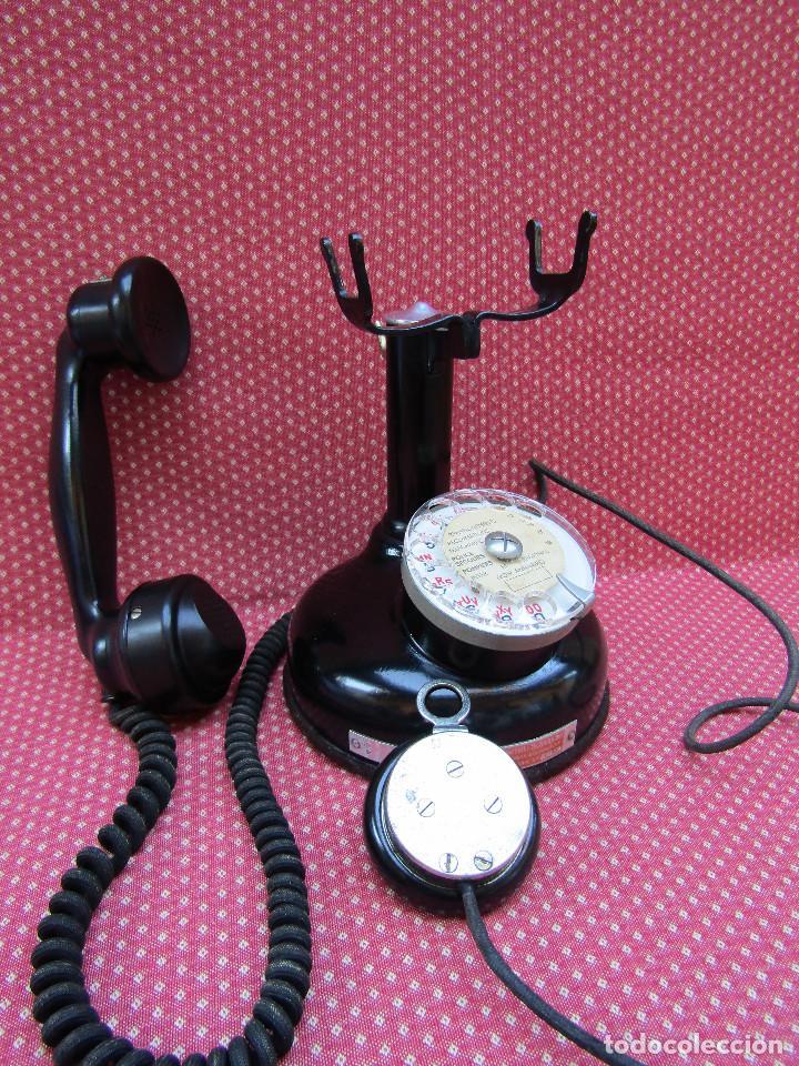 Teléfonos: ANTIGUO TELEFONO FRANCES DE MESA AÑO: 1931, MODELO PTT 24. (con Disco) - Foto 3 - 135557826