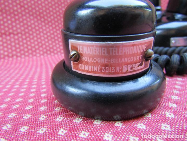 Teléfonos: ANTIGUO TELEFONO FRANCES DE MESA AÑO: 1931, MODELO PTT 24. (con Disco) - Foto 4 - 135557826