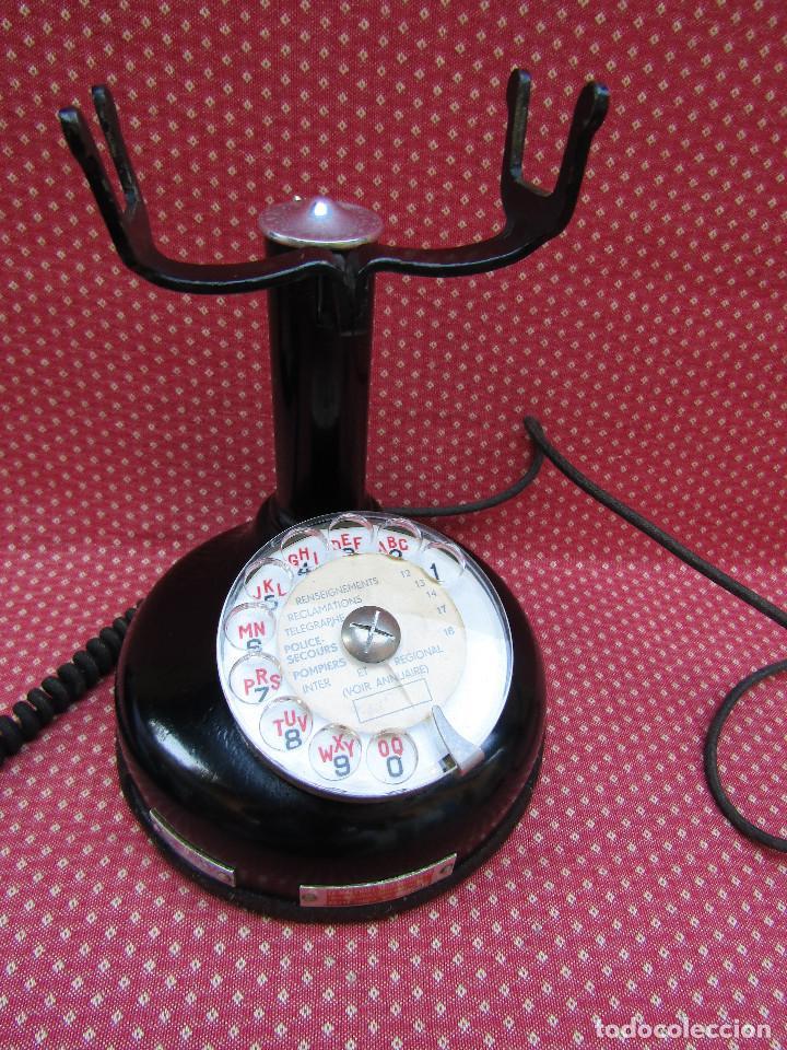 Teléfonos: ANTIGUO TELEFONO FRANCES DE MESA AÑO: 1931, MODELO PTT 24. (con Disco) - Foto 6 - 135557826