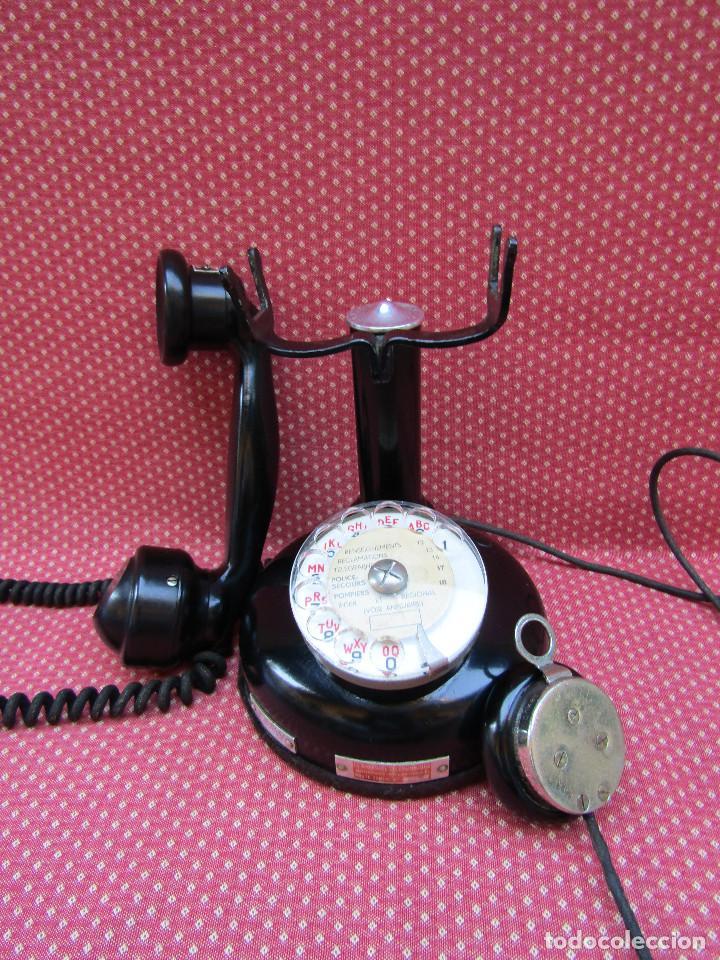 Teléfonos: ANTIGUO TELEFONO FRANCES DE MESA AÑO: 1931, MODELO PTT 24. (con Disco) - Foto 9 - 135557826