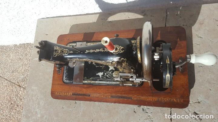 Antigüedades: Maquina de coser Antigua Frister & Rossman - Foto 3 - 135605650