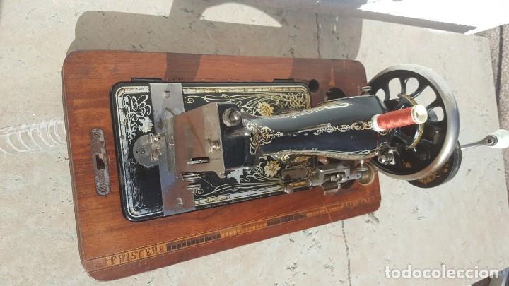 Antigüedades: Maquina de coser Antigua Frister & Rossman - Foto 4 - 135605650
