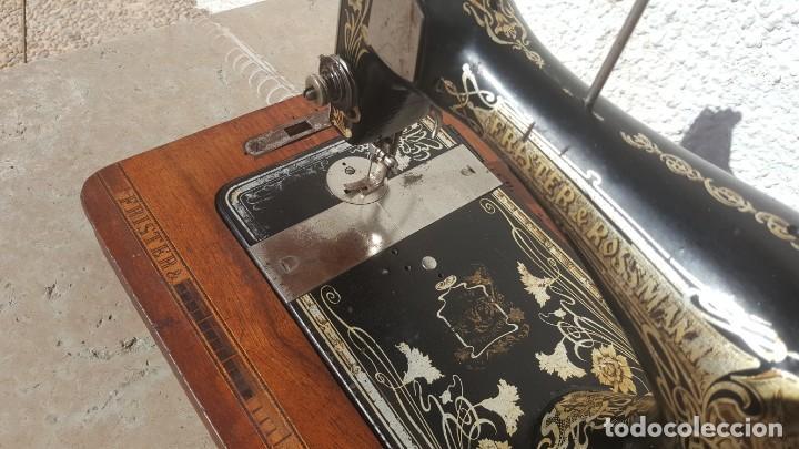 Antigüedades: Maquina de coser Antigua Frister & Rossman - Foto 8 - 135605650