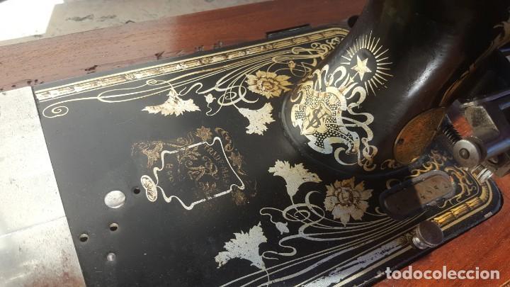 Antigüedades: Maquina de coser Antigua Frister & Rossman - Foto 10 - 135605650