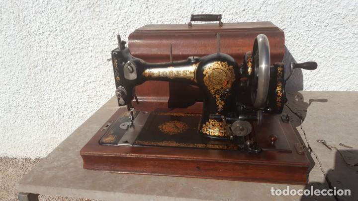 MAQUINA DE COSER ANTIGUA JONES (Antiquitäten - Technische - Antike Nähmaschinen - Andere Nähmaschinen)