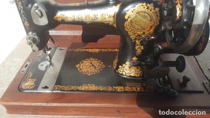 Antiquitäten: Maquina de coser Antigua Jones - Foto 2 - 135605878