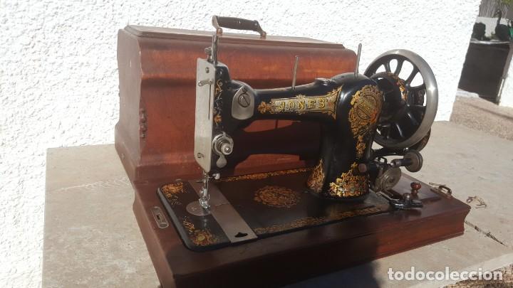 Antiquitäten: Maquina de coser Antigua Jones - Foto 7 - 135605878