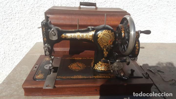 Antiquitäten: Maquina de coser Antigua Jones - Foto 14 - 135605878