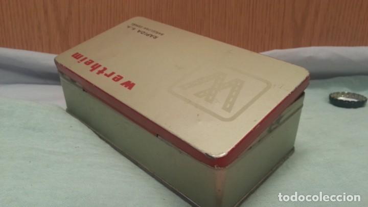 Antigüedades: Accesorios máquina WERTHEIM. Caja original y varias piezas. - Foto 6 - 135669783