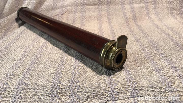 Antigüedades: Catalejo bronce y caoba. Óptica buen estado. 1900. 34/56 cm plegado/desplegado - Foto 4 - 135756486