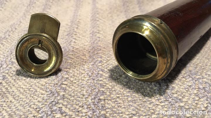 Antigüedades: Catalejo bronce y caoba. Óptica buen estado. 1900. 34/56 cm plegado/desplegado - Foto 8 - 135756486