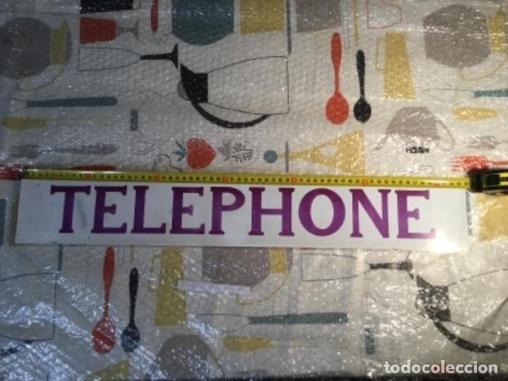 Teléfonos: Antiguo y auténtico cartel de cabina telefónica inglesa TELEPHONE - Foto 4 - 135757774