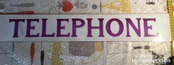 Teléfonos: Antiguo y auténtico cartel de cabina telefónica inglesa TELEPHONE - Foto 5 - 135757774