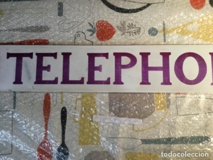 Teléfonos: Antiguo y auténtico cartel de cabina telefónica inglesa TELEPHONE - Foto 6 - 135757774