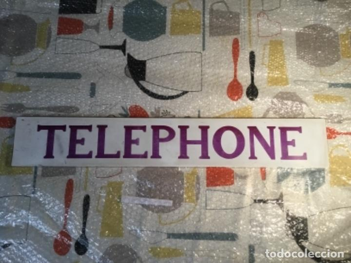 Teléfonos: Antiguo y auténtico cartel de cabina telefónica inglesa TELEPHONE - Foto 7 - 135757774