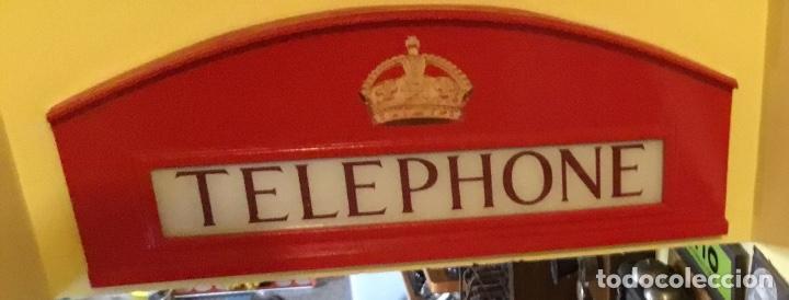 Teléfonos: Antiguo y auténtico cartel de cabina telefónica inglesa TELEPHONE - Foto 2 - 135757774