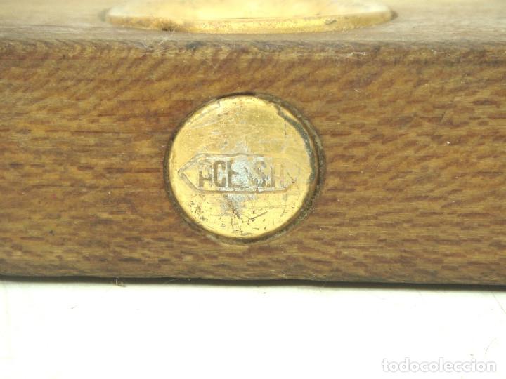 Antigüedades: ANTIGUO NIVEL MADERA - ACESA - 30 CMS . HERRAMIENTA ALBAÑIL CARPINTERO - Foto 4 - 135846206