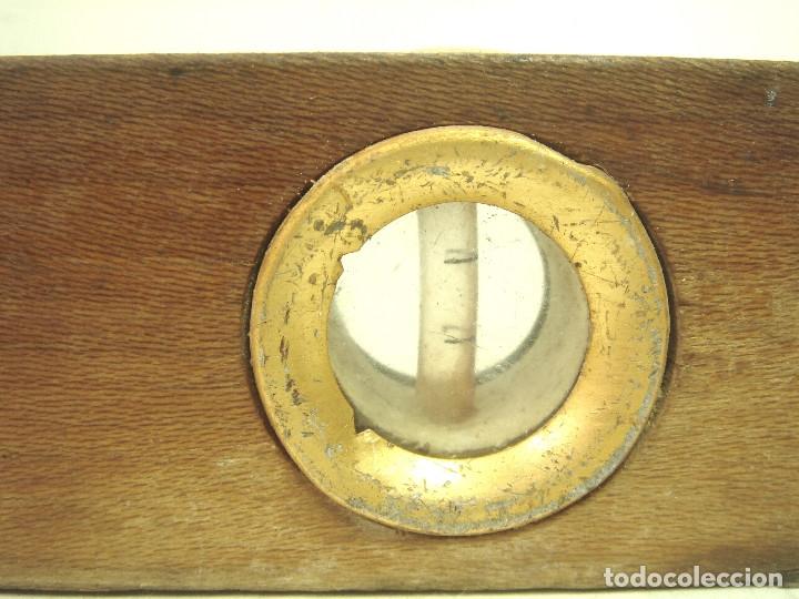 Antigüedades: ANTIGUO NIVEL MADERA - ACESA - 30 CMS . HERRAMIENTA ALBAÑIL CARPINTERO - Foto 9 - 135846206