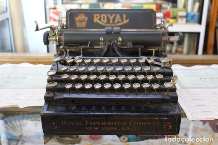 PRECIOSA MAQUINA DE ESCRIBIR ROYAL STANDARD Nº 5 MODELO MADRID. AÑOS 20 (Antigüedades - Técnicas - Máquinas de Escribir Antiguas - Royal)