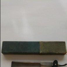 Antigüedades: ANTIGUA NAVAJA FILARMONICA DOBLE TEMPLE JOSE MONTSERRAT POU 14. Lote 135911602