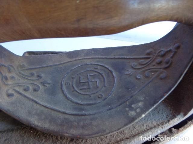 Antigüedades: MUY ANTIGUA, RARA E IMPORTANTE PLANCHA CARBON CON CHIMENEA CON HESVASTICA NAZI, COMPLETA Y MUY BUEN - Foto 2 - 135999938