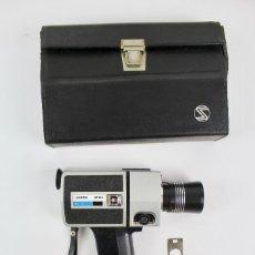 Antigüedades: CÁMARA LOADMATIC MP-303 SOUND TL SUPER 8, EN SU ESTUCHE DE CUERO. Lote 136002186
