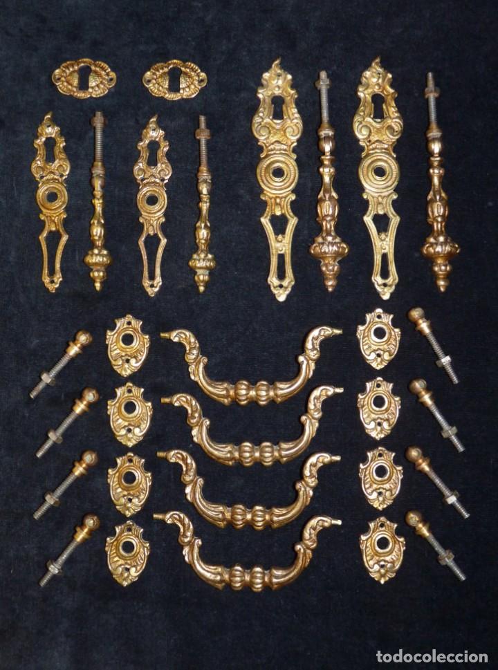 2 tiradores de bronce antiguo para cajones cajones puertas bronce muebles armarios