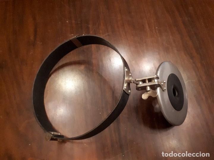 Antigüedades: Antiguo Espejo Frontal. Otorrinolaringólogo.Médico. Doctor. - Foto 3 - 136088242