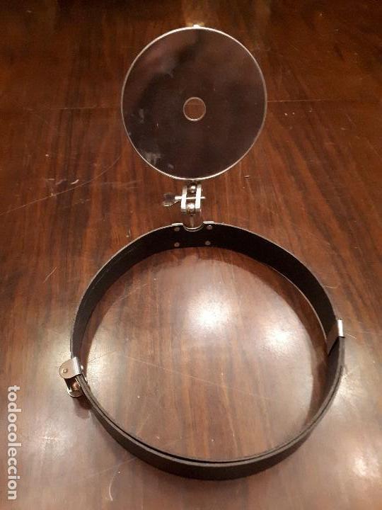 Antigüedades: Antiguo Espejo Frontal. Otorrinolaringólogo.Médico. Doctor. - Foto 4 - 136088242