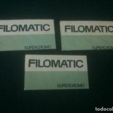 Antiquités: 3 CUCHILLAS DE AFEITAR - FILOMATIC SUPERCROMO. Lote 136160350