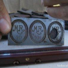 Antigüedades: ¡¡ M R ¡10¡¡¡¡MOLDE DE IMPRENTA¡PUBLICITARIO,AÑOS 30 40¡UNICO EN TC¡. Lote 136174290